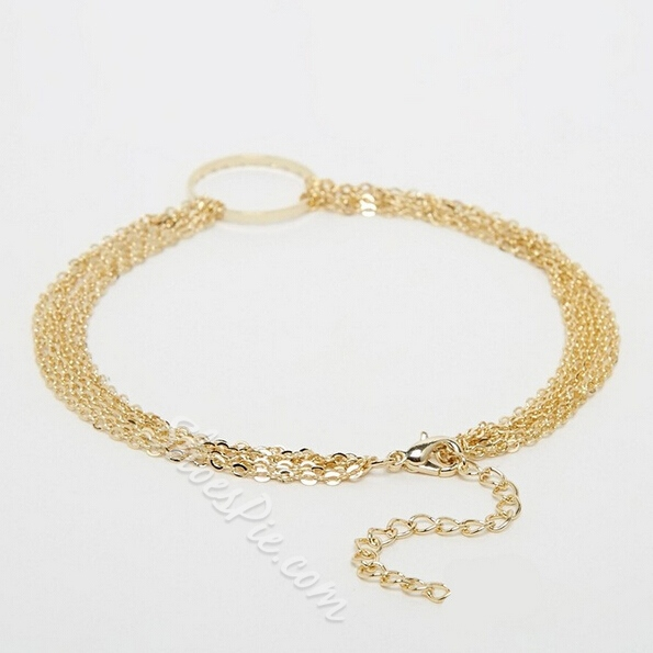 Shoespie Metal Circle Anklet