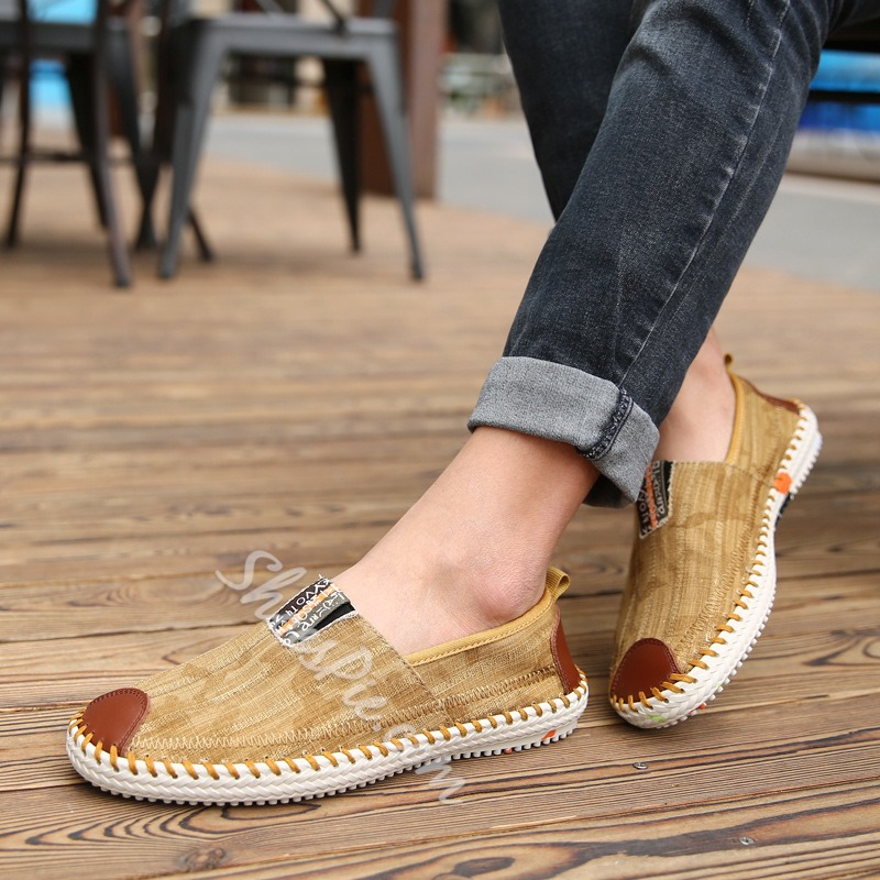 Shoespie Summer Cloth Stitches Decoration Men's Loafers