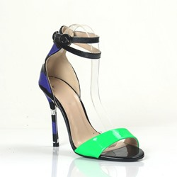 Shoespie Assorted Color Ankle Wrap Stiletto Sandals