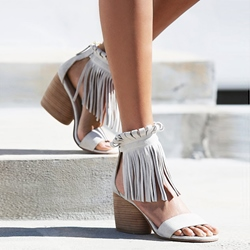 Shoespie OL Style Tassel Wooden Sandals
