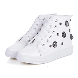 Shoespie Rivet Ankle Flat Canvas Shoes