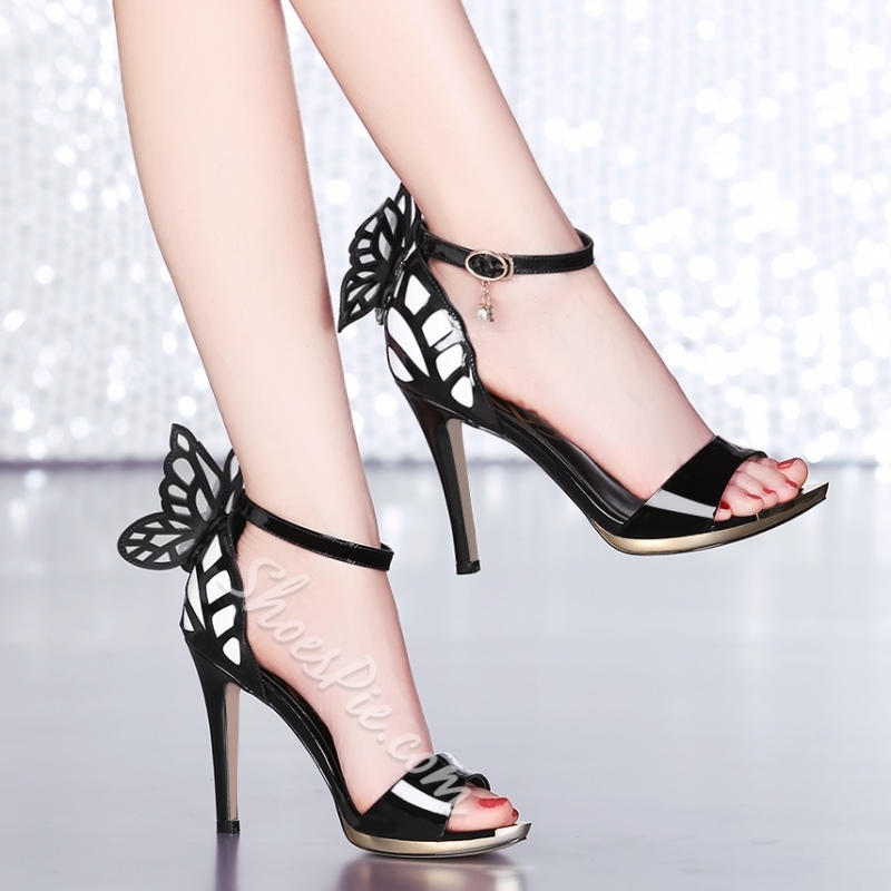 Shoespie Bowtie Stiletto Heel Dress Sandal