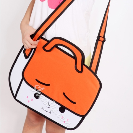 Shoespie Cartoon Print Cross Body Handbag
