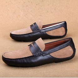 Shoespie Leather Contrast-Color Men's Sandals