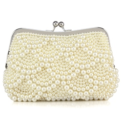 Shoespie Pearl Clutch Wedding Handbag