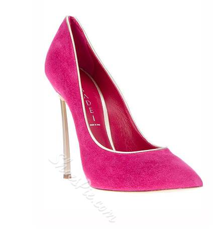 Shoespie Suede OL Style Pointed-toe Stiletto Heels