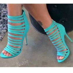 Shoespie Cut-out Back Zipper Dress Gladiator Sandals
