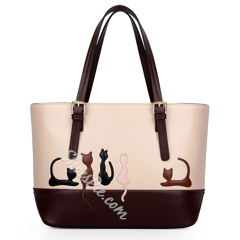 Shoespie Cartoon Print Big One Shoulder Handbag
