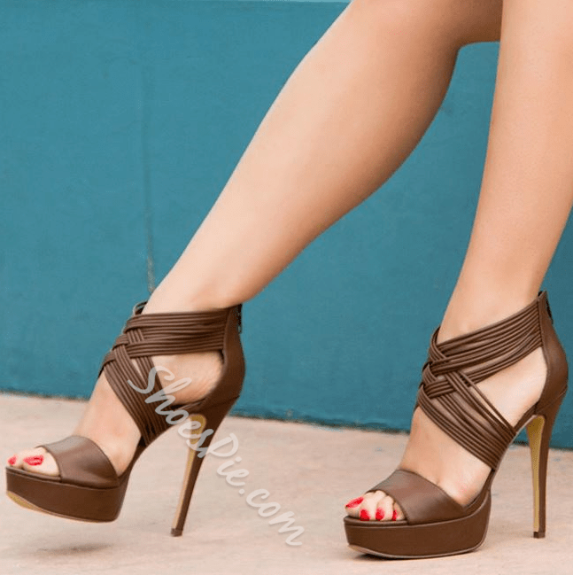 Shoespie Wrap Chocolate Dress Sandals