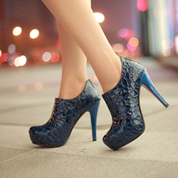 Shoespie Snakeskin Stiletto Heel Ankle Boots