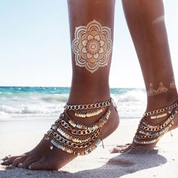 Shoespie Metal Thong Anklet