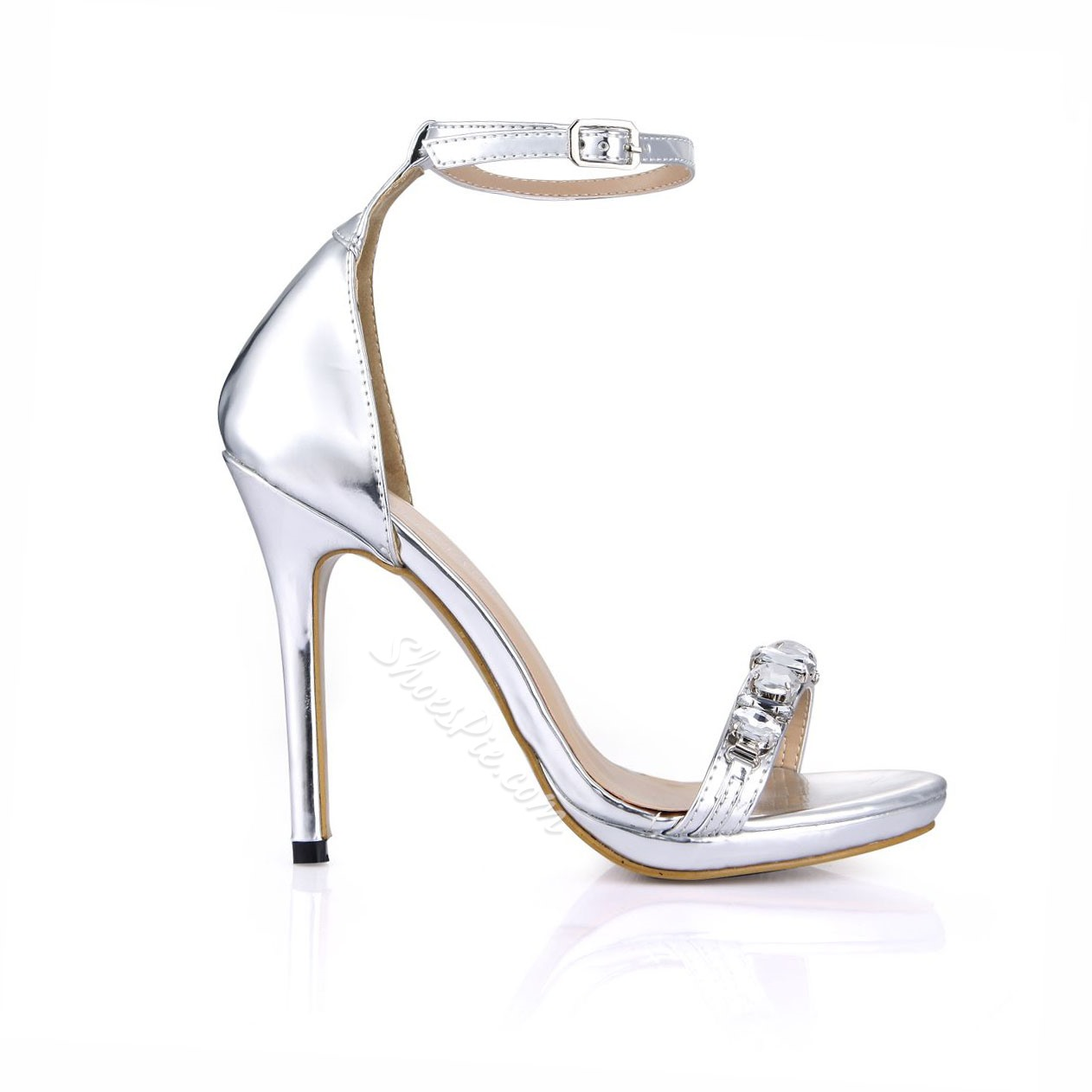 Shoespie Rhinestone Buckle Decorated Dress Sandals