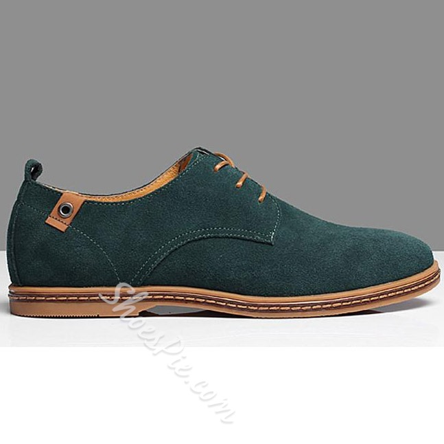 Shoespie Suede Lace Up Men's Loafers