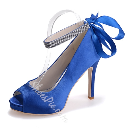 Shoespie Ribbon Bowtie Satin Bridal Shoes