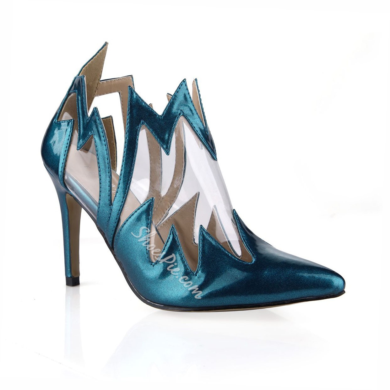 Shoespie Stylish Blue Pointed-toe Stiletto Heels