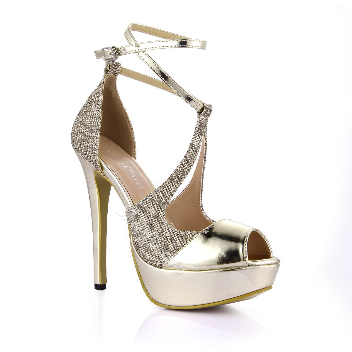 Shoespie Metal Sequined Dress Sandals