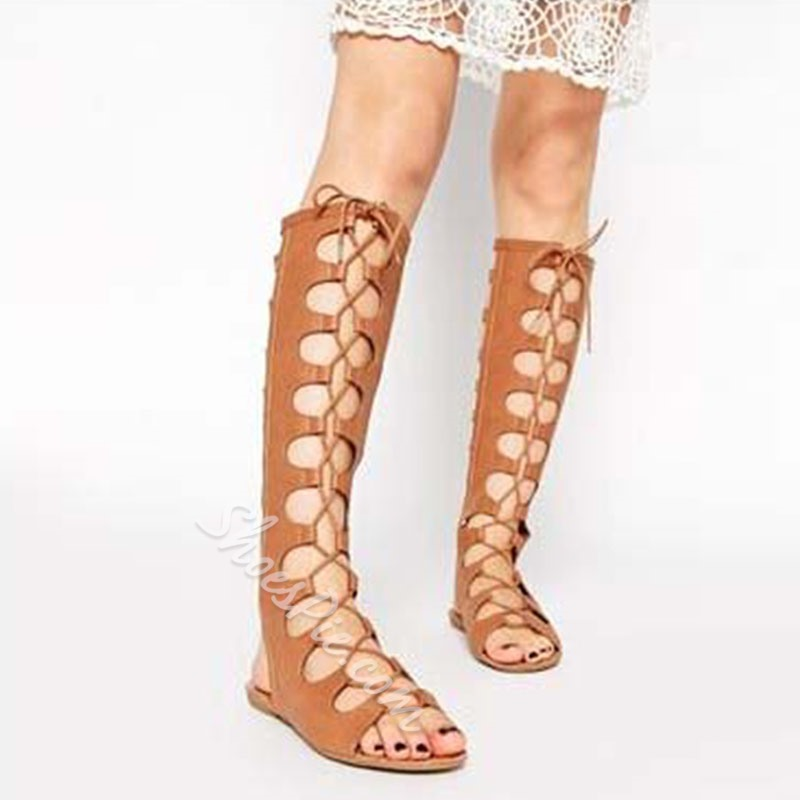 Shoespie Lace Up Gladiator Sandals