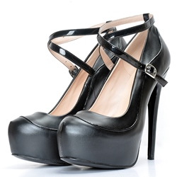 Shoespie Assorted Cross Strap Platform Heels