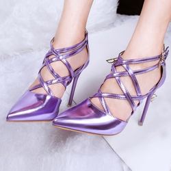 Shoespie Cross Strap Pointed-toe Stiletto Heels