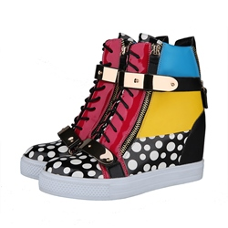 Shoespie Assorted Color Metal Zipper Sneaker