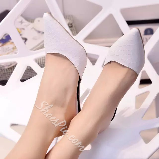 Shoespie Solid Color Point Toe Stiletto Slippers