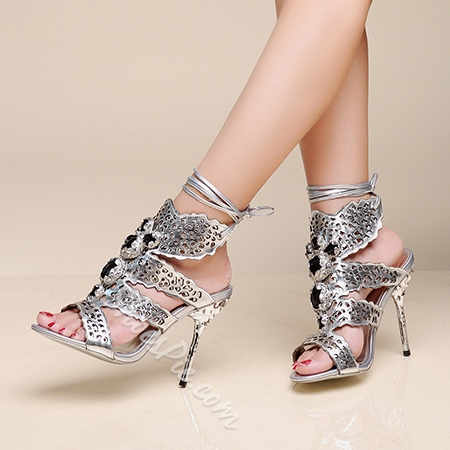 Shoespie Luxury Stiletto Heel Dress Sandals
