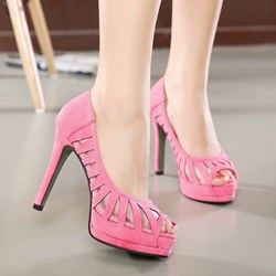 Shoespie Transparency Peep-toe Dress Sandals