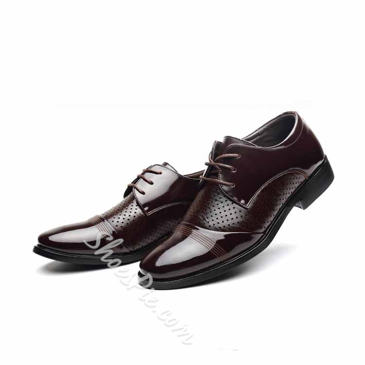 Shoespie Cutout Men's Oxford