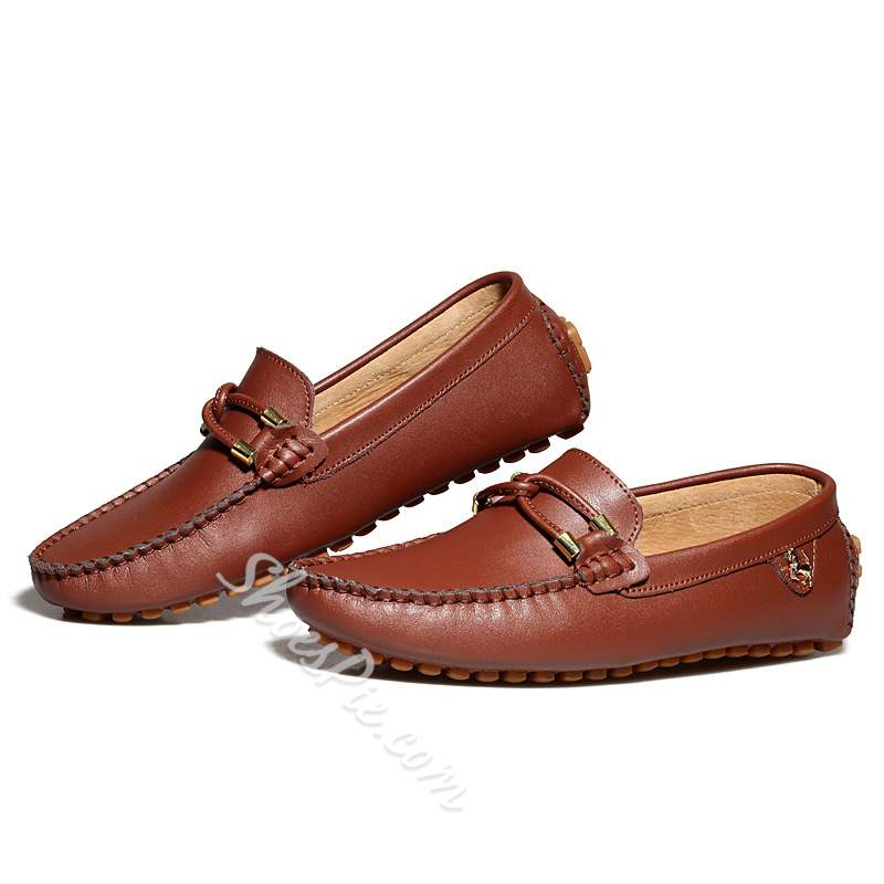 Shoespie Leather Men's Penny Loafers