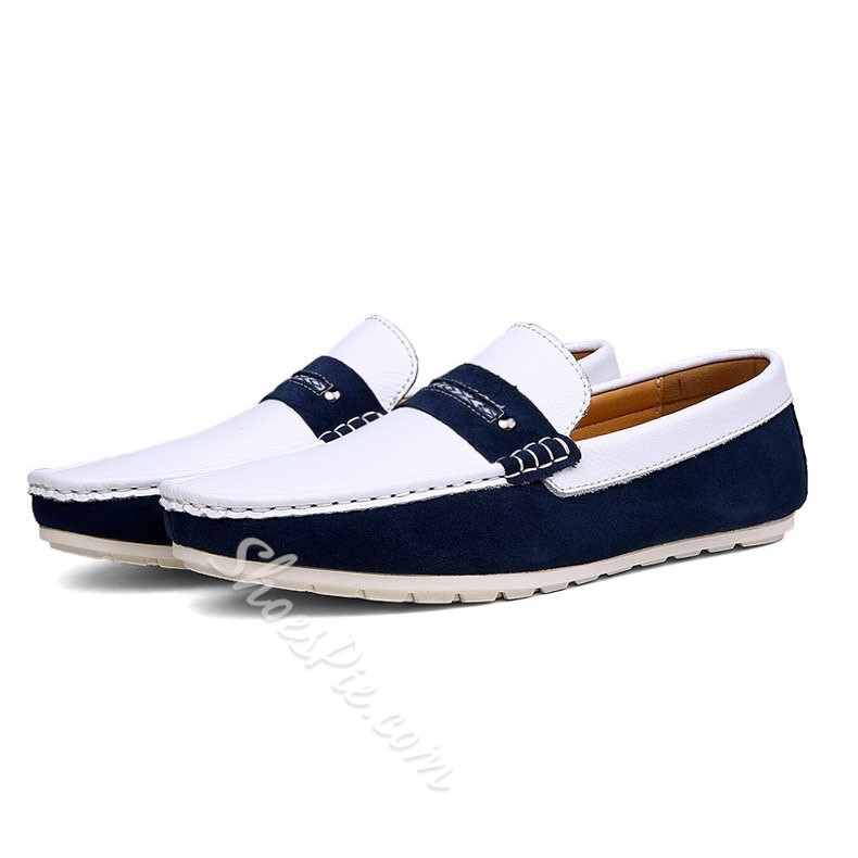 Shoespie Casual Comfortable Color Block Men's Loafers