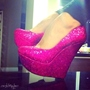 Shoespie Gliiter Wedge Heels