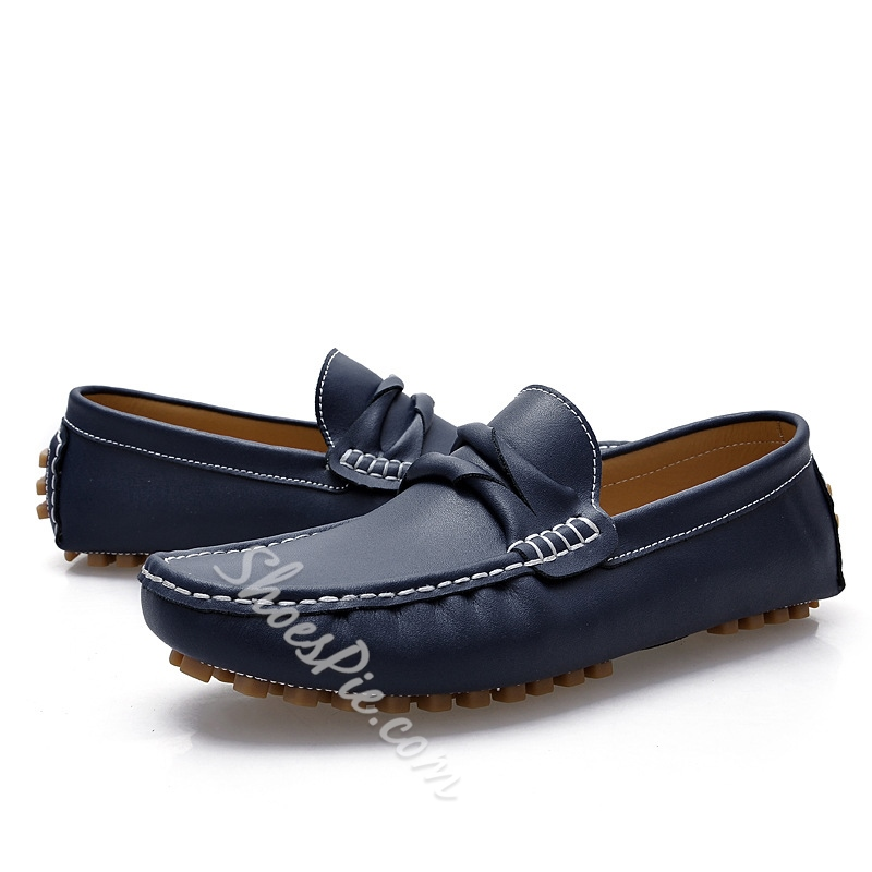 Solid Color Quilted Slip-On Loafers