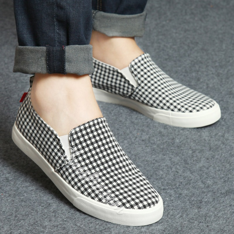 Shoespie Plaid Men's Loafers