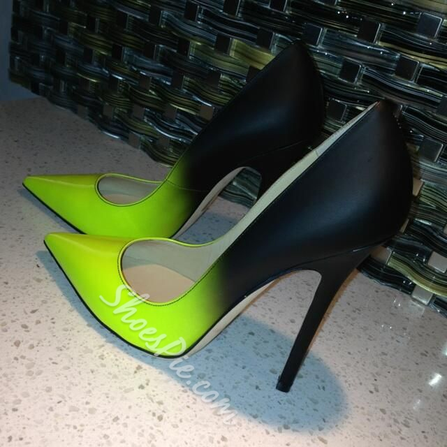 Shoespie Patent Gradually Changing Color Stiletto Heels