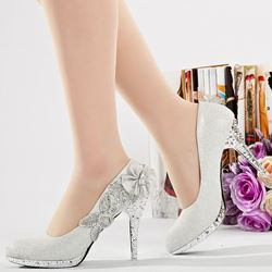 Shoespie Silver Rhinestone Bridal Shoes