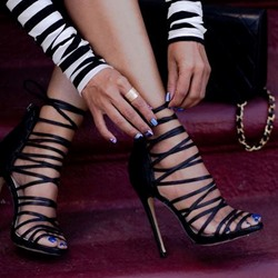 Shoespie Stiletto Heel Gladiator Sandals
