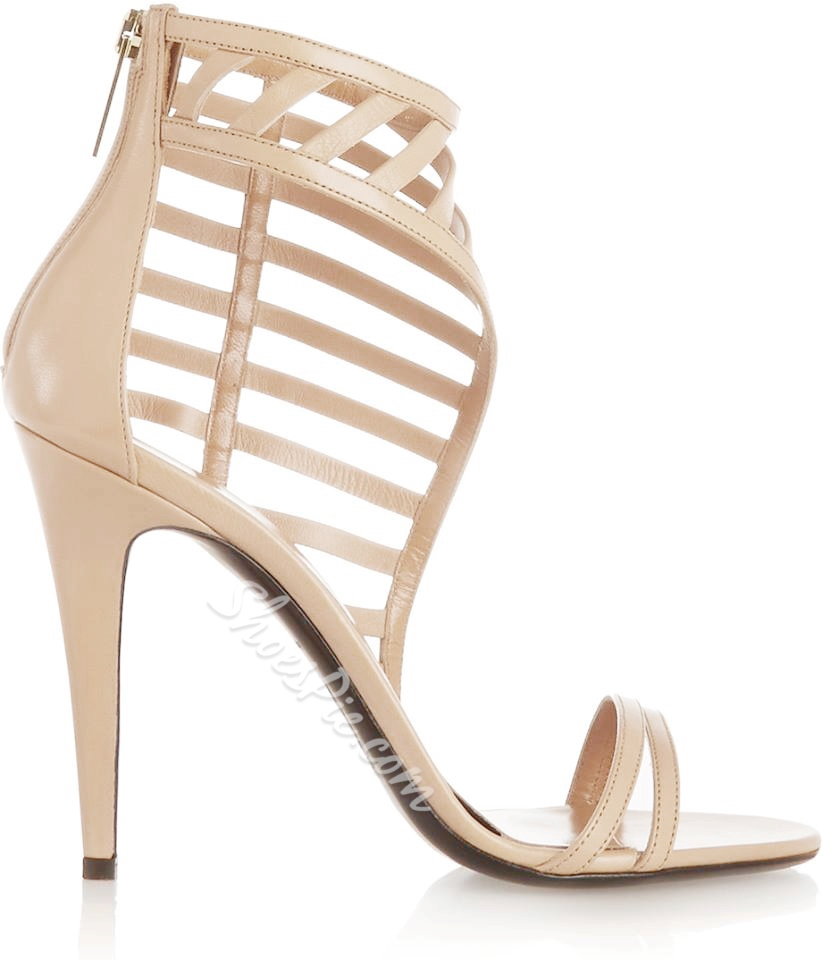 Shoespie Sexy Solid Color Cut-out Sandals