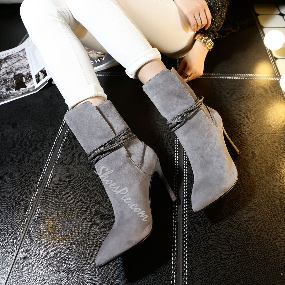 Shoespie Genuine Leather Ankle Boots