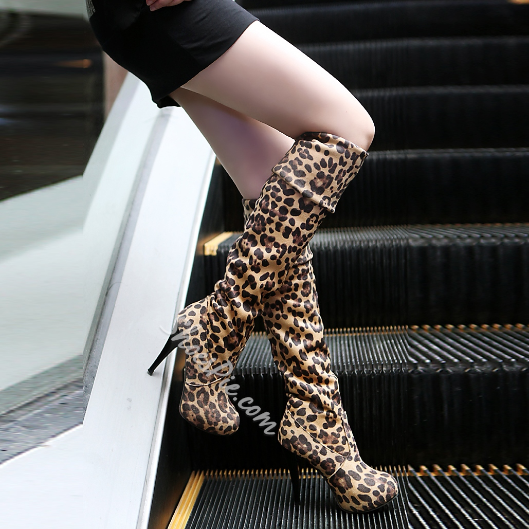 Shoespie Concise Suede Knee High Boots