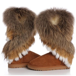 Shoespie Hairy Mid-calf Snow Boots