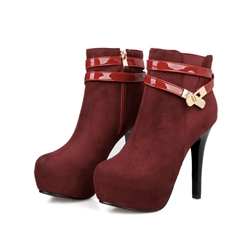 Shoespie Buckles Zipper Stiletto Heel Ankle Boots