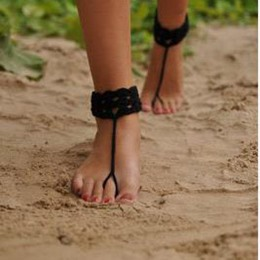Shoespie Black Anklet