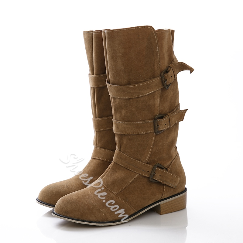 Shoespie Chic Mid Sharft Boots