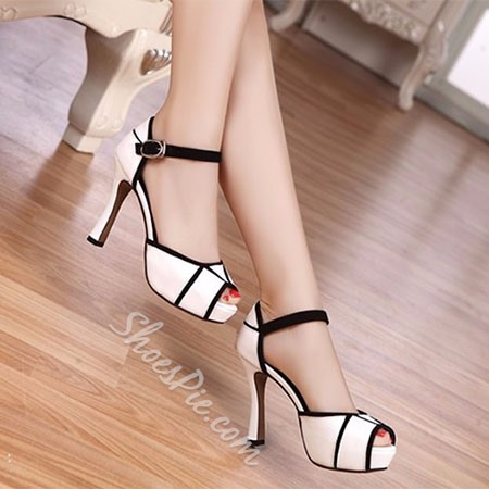 Shoespie Assorted Color Peep-toe Platform Sandals