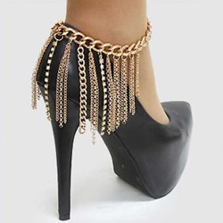 Shoespie Chains Tassels Anklets