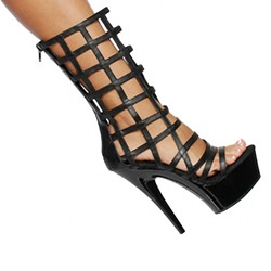 Shoespie Cut-out Solid Color Dress Sandals