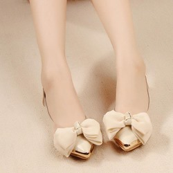 Shoespie Cute Bow Loafers