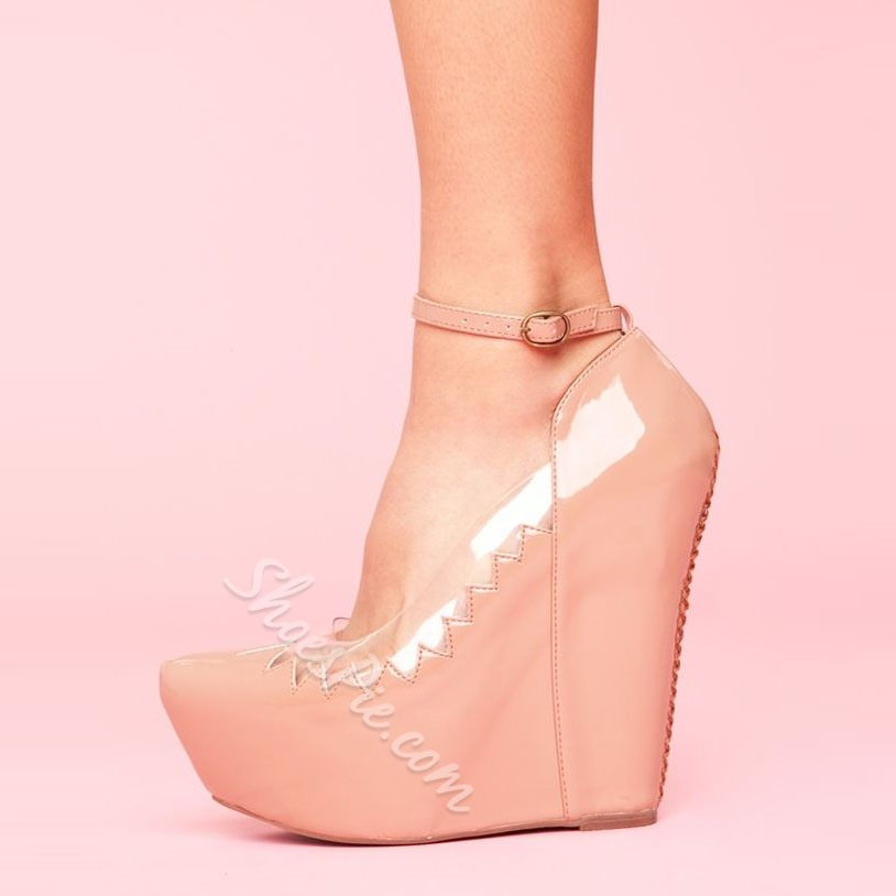 Shoespie Nude Assorted Ankle Wrap Wedge Heels Shoespie