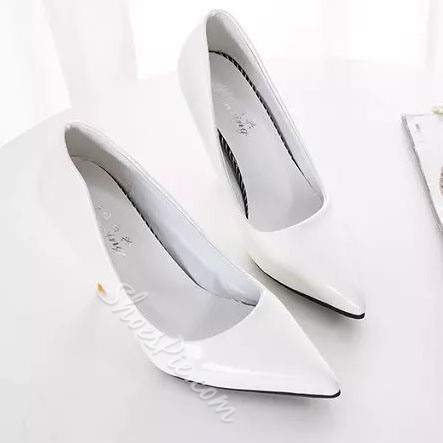 Shoespie Solid Color Pointed-toe Heels