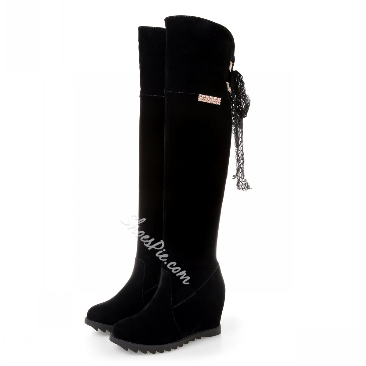Shoespie Wedge Heel Knee High Boots